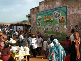 Picture: entrance to Masindi Market