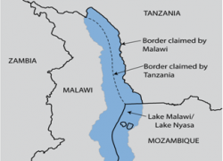 Image: Lake Malawi border map