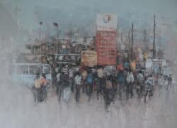 oil paint by Ismael Kateregga