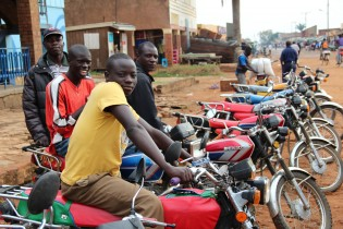 Image: Boda drivers in Nebbi
