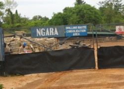 Ngara Waste Storage Site in Buliisa District operated by Tullow Oil Uganda.