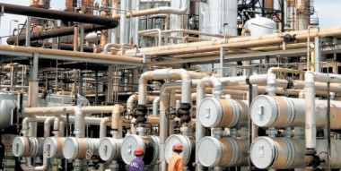 A section of the Mombasa refinery