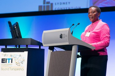 Energy Minister re-affirms government's committment to joining EITI at the EITI annual conference in Sydney, Australia last year. Despite repeated assurances from government, EITI