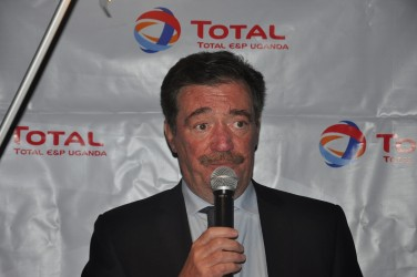 Total's General Manager, François Rafin. (Photo: Beatrice Ongode)