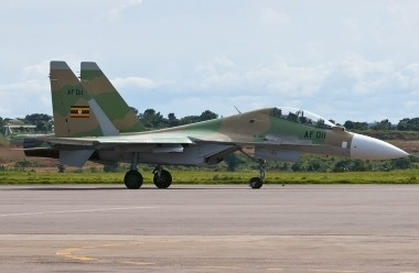 A Russian-made Uganda Peoples Defense Forces Air Force jet that was supplied
