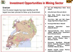 Slide from a presentation by Eng Irene Muloni (MP). Minister of Energy and Mineral Development in June 2014 at the Mining on Top: Africa – London Summit.