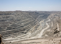 The Rössing Uranium Mine in Namibia is the longest-running and one of the largest open pit uranium mines in the world
