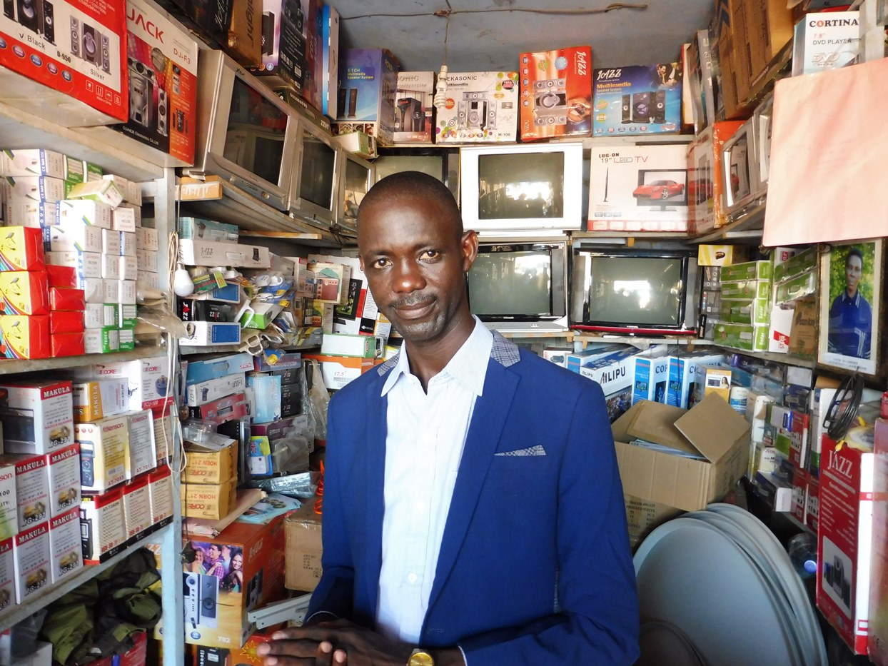 An entrepreneur in Hoima participating in business training