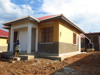 A resettlement home that has been built in Kyakabooga village in Hoima district.