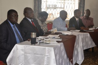Zachary Baguma minster Peter Lokeris and other officials from the ministry of energy and mineral development during the meeting.