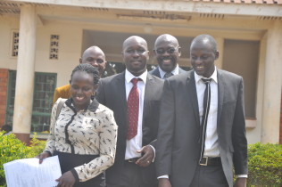 The team of lawyers representing the evicted miners at Mubende court